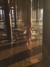 Under the pier in Santa Monica.