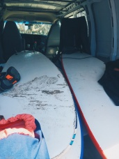 Sand filled surf van. It was so cliche I had to take a picture.