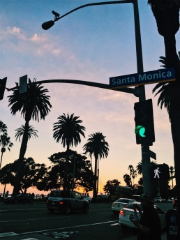 Until the sun comes up (or in this case goes down) over Santa Monica Boulevard. Location: Santa Monica, California.