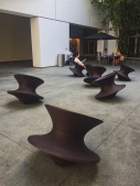 The coolest rocking chairs ever. They spin around and are so much fun. I sat in one for 30 minutes just rocking and spinning. Location: Westwood, California