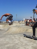 The talent of many of the skateboarders at Venice Beach was a sight to behold. Location: Venice Beach, California